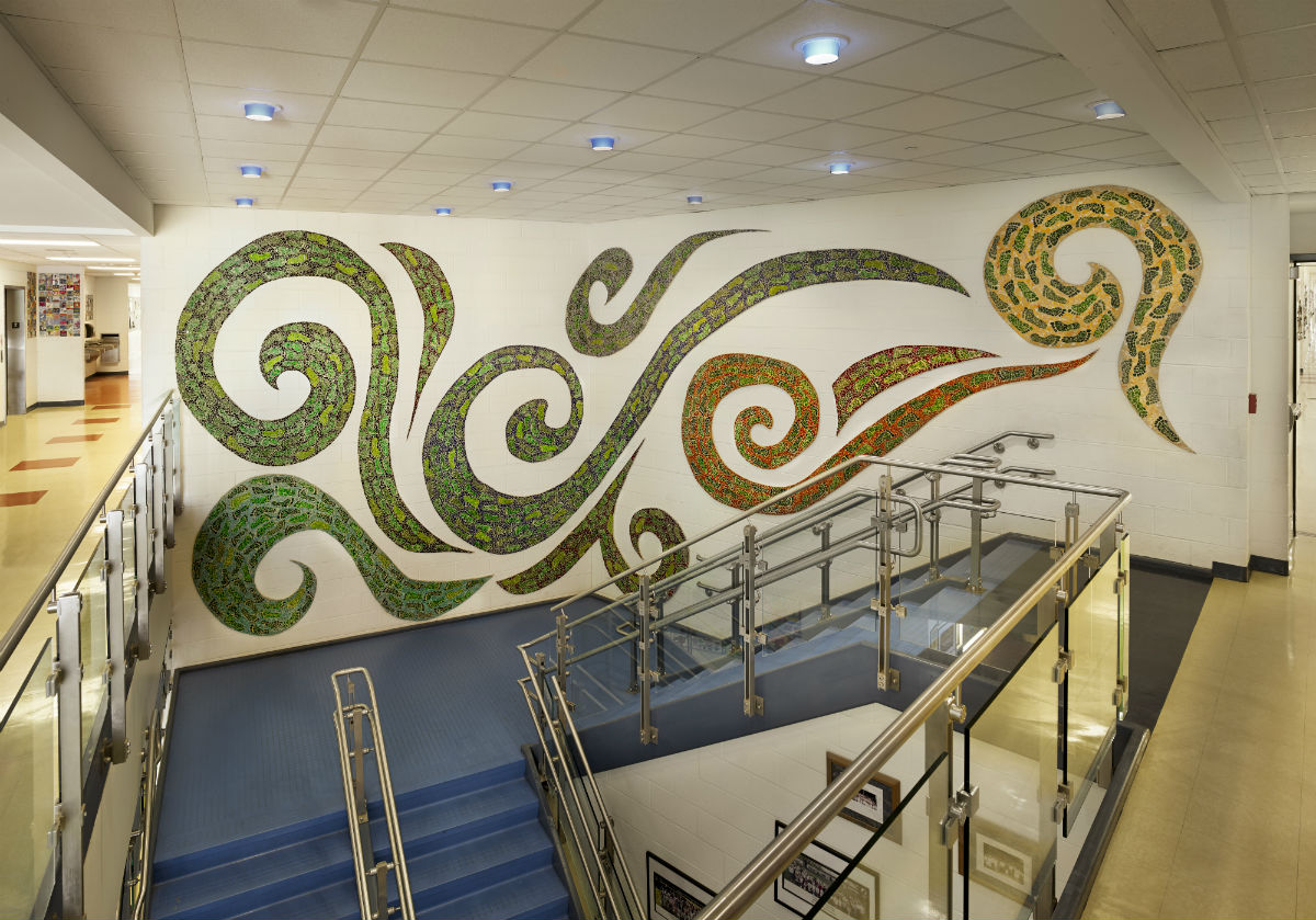 Green Footprings 1200 x 800 Claire Brill Mosaic Spaces