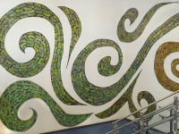 Green Footprints left side 1200 x 800 Claire Brill Mosaic Spaces
