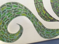 Green Footprints lower left 1200 x 800 Claire Brill Mosaic Spaces