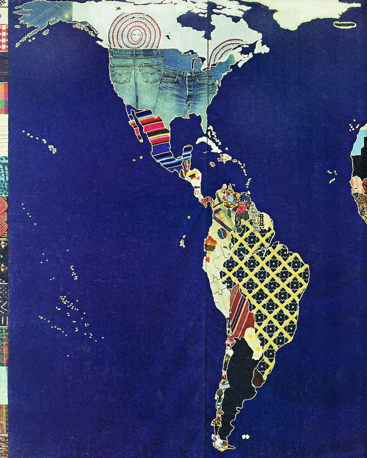 Textile mosaic world map swarthmore textile map back cover 900 gumiabroncs