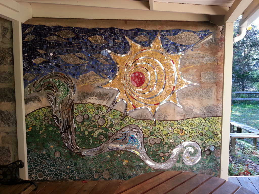 Rose Valley Mosaic Wall 10-18-13