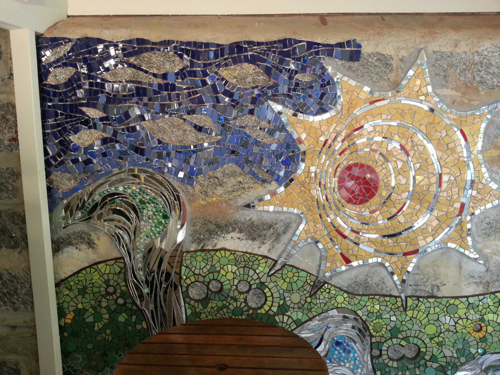 Mosaic Wall in Rose Valley, PA by Claire Brill medium